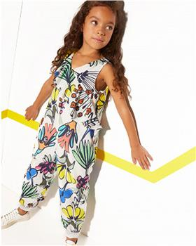 Catimini Girls Floral Jumpsuit CQ32035-20
