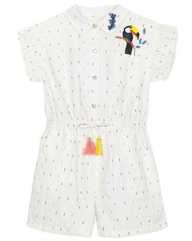 Catimini Girls Shirt Style Playsuit CQ33005-20 White