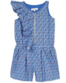 Catimini Girls Patterned Playsuit CQ33015-20 Blue