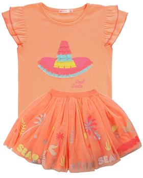Billieblush girls top & skirt U15730-13241-20 Peach