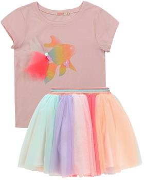 Billieblush girls T-shirt and skirt U15741-13242-20