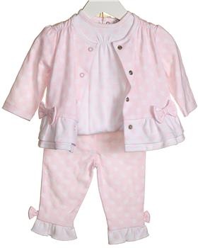 Bluesbaby Girls 3piece Outfit VV0064-20 Pink
