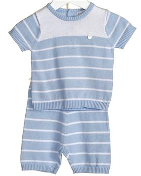 Bluesbaby Boys Knitted Outfit VV0106-20 BLUE