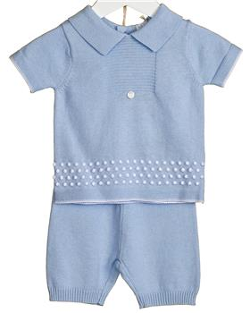 Bluesbaby Boys Knitted Set VV0116-20 blue