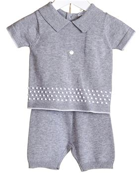 Bluesbaby Knitted Short Set VV0117-20 GREY