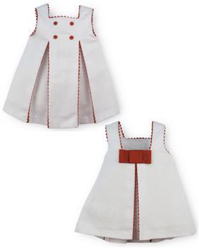 Sardon Girls Dress 20AB-48 WH/RD