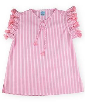 Sardon Girls Striped Kaftan 20AP-1017 PINK
