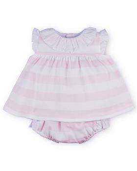 Sardon Baby Girls Striped Dress & Knicks 20CO-503 PINK