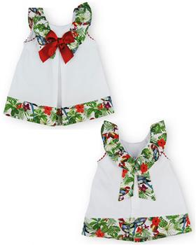 Sardon Girls Dress 20CO-519 WHITE