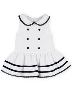 Sardon baby girls dress 20AB-74 Wh/Navy