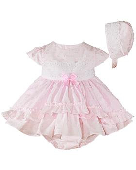 Miranda Baby Girls Dress 27-0032-VBG-20 Pink