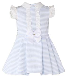 Miranda Girls Striped Dress 27-0247-V-20 BLUE