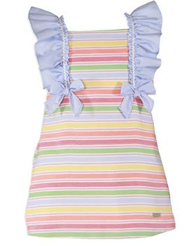 Miranda Girls Pastel Striped Dress 27-0613-V-20