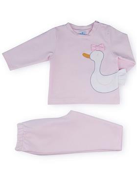 Sardon girls swan top and pants 20CO-540 Pink
