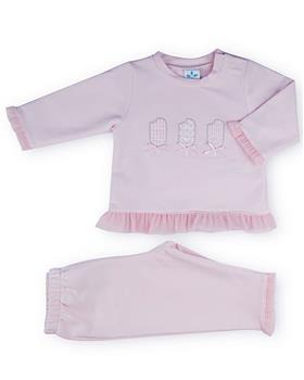 Sardon girls lolly ice top and pants 20CO-542 Pink