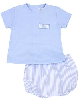 Rapife Boys Tshirt & Bloomer 4414-20 BLUE