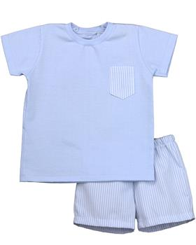 Rapife Boys Tshirt & Short Set 4450-20 BLUE