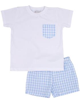 Rapife Boys Tshirt & Short Set 4550-20 WH/BL