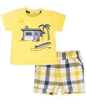 EMC baby boys T-shirt and Shorts CO2639-20 Yellow