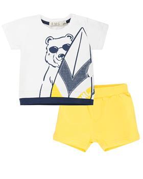 EMC baby boys T-shirt and Shorts CO2640-20 Yellow