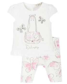 EMC baby girls legging set CO2637-20 White