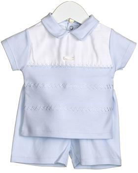 Bluesbaby baby boys polo top & short VV0226 blue