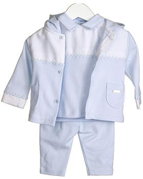 Bluesbaby baby boys jacket top & trouser VV0227 Blue