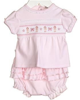 Bluesbaby baby girl top & short VV0254 Pink