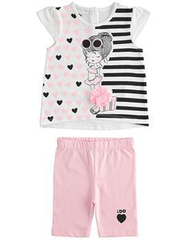 I Do girls short sleeved set 4J345-20 Wh/Pk