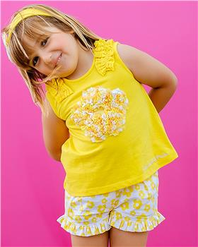Agatha Ruiz yellow T-shirt & short 9623-20 yellow