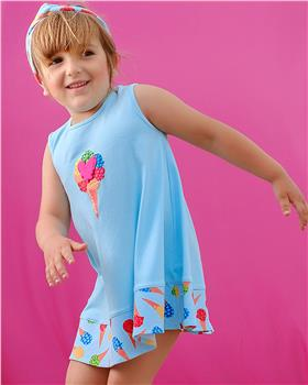 Agatha Ruiz aquamarine dress 9201-20