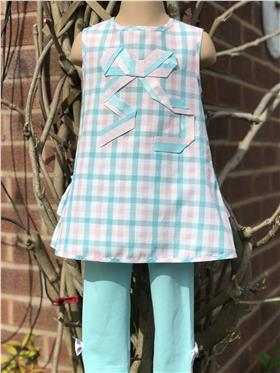 Daga Girls Tunic & Leggings M7834-M7837-20 AQUA