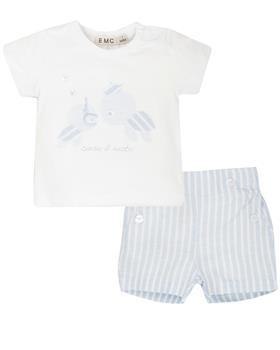 EMC baby boys T shirt and short CO2663-20 White