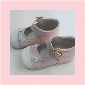 Andanines Girls Flower Shoe 378 Pk/Wh