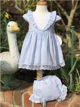 Dolce Petit girls dress with knicks 27-2001-VB Blue