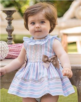 Dolce Petit girls dress with knicks 27-2149-VB Blue
