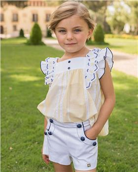 Dolce Petit girls blouse and shorts 27-2223-23 Yellow