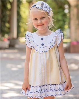 Dolce Petit girls dress 27-2223-V Yellow