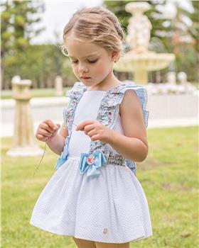 Dolce Petit girls dress 27-2226-V White