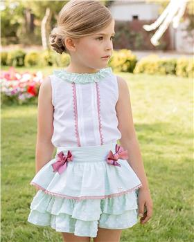 Dolce Petit girls top and skirt set 27-2245-23 Green