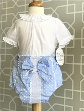 Dolce Petit baby girls blouse & jam pant 23-2001-2002-3 Blue