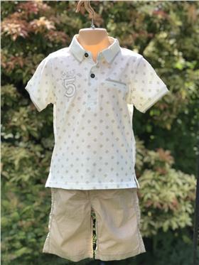 I DO boys T shirt & short S240-271 beige