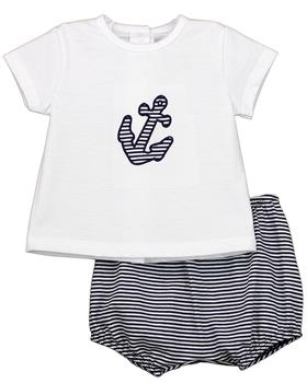 Rapife Boys T-shirt & shorts  4914-20 White & Navy