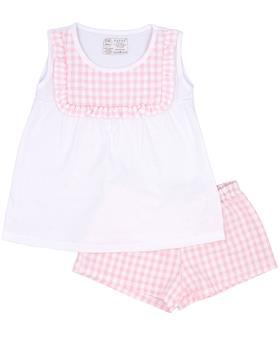 Rapife Girls Tshirt & Shorts 4551-20 wh/pk