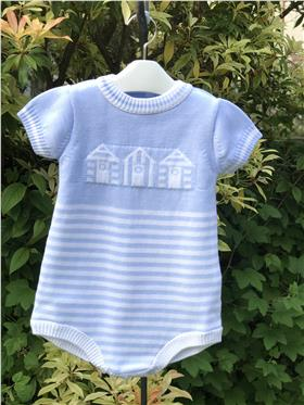 Dr Kid baby boy knitted romper Dk114 Blue