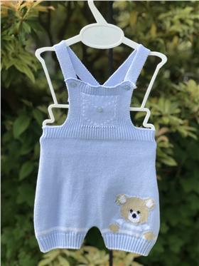 Dr Kid boys knit bib n brace 114-17 blue