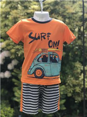 I Do boys t-shirt & short set U751-18 Orange