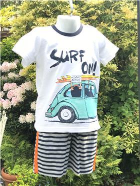 I Do boys T-shirt & Shorts U751-17 White
