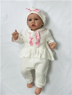Mintini Baby Girls Baby Gro MB1931-18 CR/PK