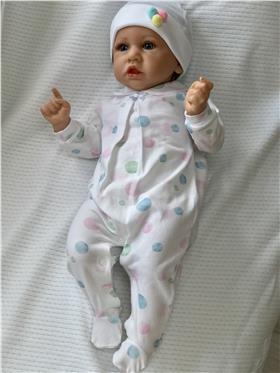 EMC Baby Girls Spotty Romper BG6138-17 Multi